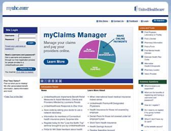 myuhc.com screenshot