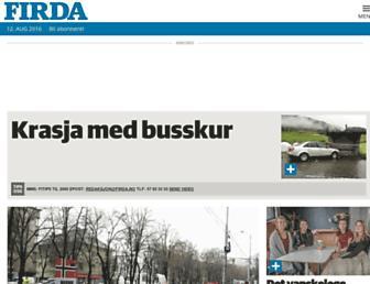 Main page screenshot of firda.no