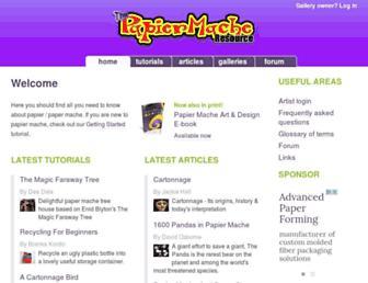Main page screenshot of papiermache.co.uk