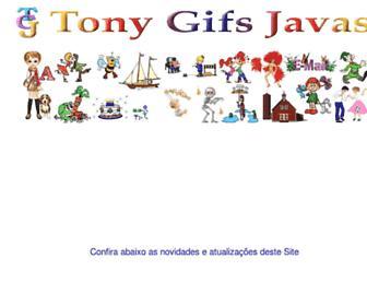 Main page screenshot of tonygifsjavas.com.br
