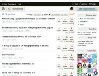 ask.fedoraproject.org screenshot