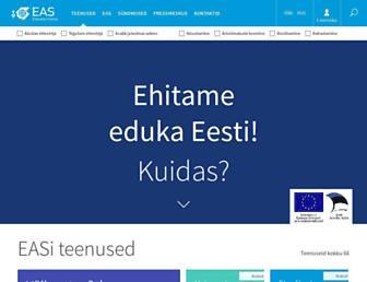 Main page screenshot of eas.ee