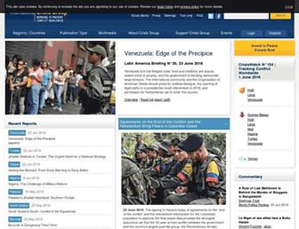 Main page screenshot of crisisgroup.org