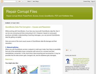 repair-corrupt-files.blogspot.com screenshot
