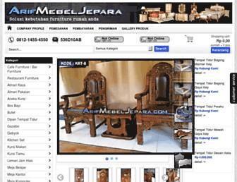 arifmebeljepara.com screenshot