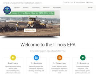 Main page screenshot of epa.state.il.us