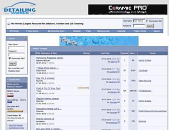 Main page screenshot of detailingworld.co.uk