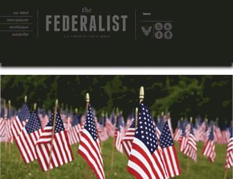 Thumbshot of Thefederalist.com