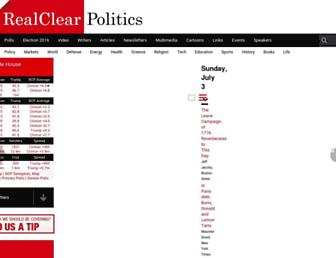 realclearpolitics.com screenshot