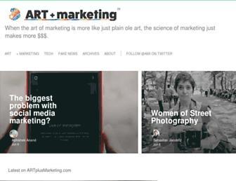 artplusmarketing.com screenshot