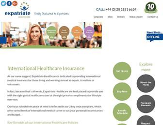 expatriatehealthcare.com screenshot