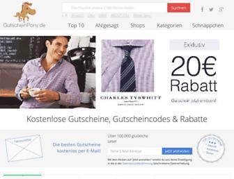 Thumbshot of Gutscheinpony.de