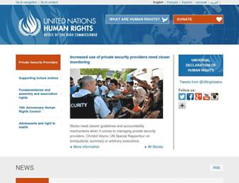 ohchr.org screenshot