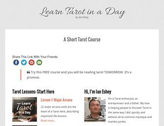 learntarotinaday.com screenshot