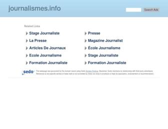 Main page screenshot of journalismes.info