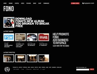Main page screenshot of fono.net