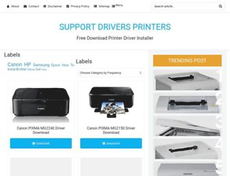 supportdriversprinters.blogspot.com screenshot