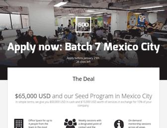 500mexicocity.com screenshot