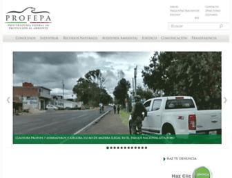 Main page screenshot of profepa.gob.mx