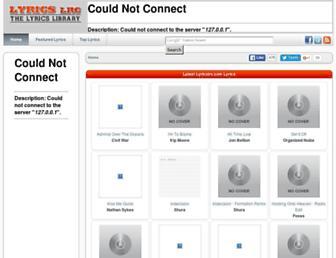 lyricslrc.com screenshot