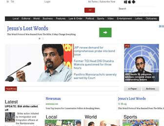 Thumbshot of Dailynews.lk