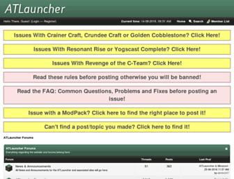 forums.atlauncher.com screenshot