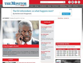 Main page screenshot of mmegi.bw