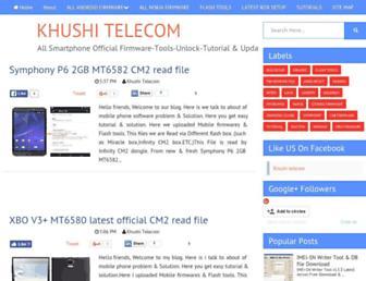khushitelecom.blogspot.com screenshot