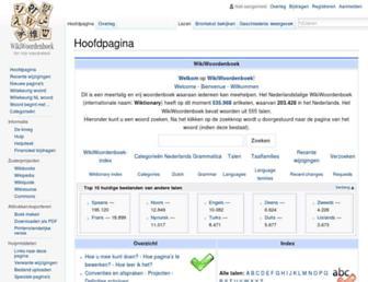 nl.wiktionary.org screenshot