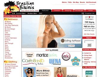 Main page screenshot of brazilian-bikinis.org