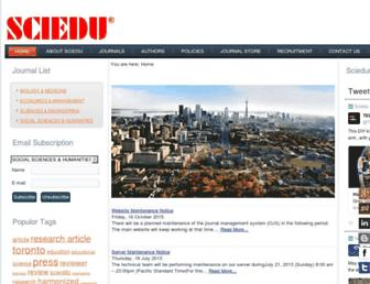 sciedu.ca screenshot