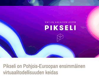 Main page screenshot of pikseli.fi