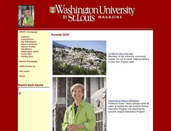 Main page screenshot of magazine-archives.wustl.edu
