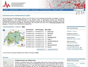 seismo.ethz.ch screenshot