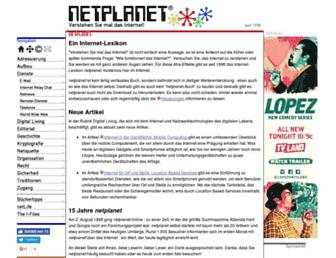 Main page screenshot of netplanet.org