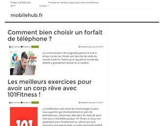 Main page screenshot of mobilehub.fr