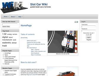 slotcarwiki.org screenshot
