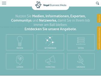 Main page screenshot of vogel.de