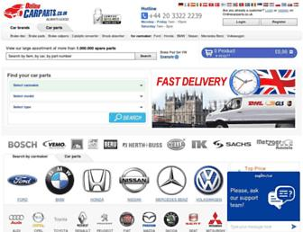 onlinecarparts.co.uk screenshot