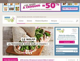 Main page screenshot of croquonslavie.fr
