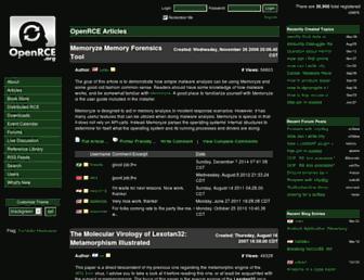 openrce.org screenshot