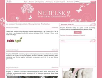 nedelsk.lt screenshot