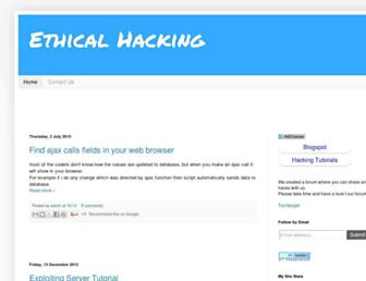 theethicalhackerz.blogspot.com screenshot