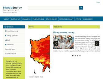 Main page screenshot of managenergy.net