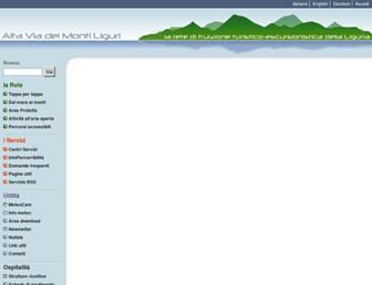 Main page screenshot of altaviadeimontiliguri.it