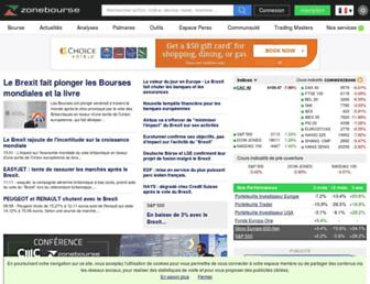 zonebourse.com screenshot