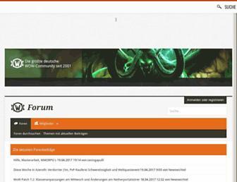 Main page screenshot of wowforum.gamona.de