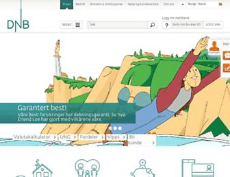 Main page screenshot of nordlandsbanken.no