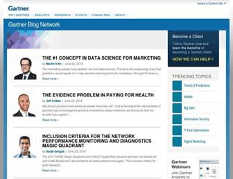 blogs.gartner.com screenshot
