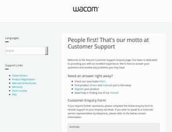 support.wacom.asia screenshot